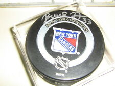 AUTOGRAPHED BRUCE DRIVER NY RANGERS PUCK