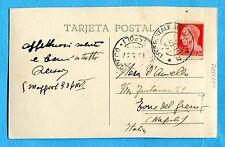 1937 UFFICIO POSTALE SPECIALE 4, 05.05.37 su IMP.c.20 su cart.SALAMANCA (239989)
