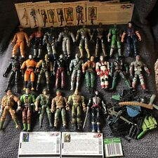 GI Joe Action Figure Collection Lot 23 Toys 30+ Weapons Cards Spytroops RARE HTF