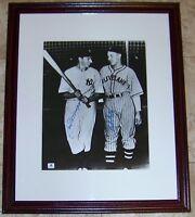 Joe DiMaggio Bob Feller Signed 11x14 Baseball Photo GA COA JSA PSA BAS GUARANTEE