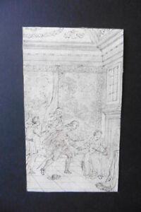 DUTCH SCHOOL CA. 1690 - HISTORICAL SCENE BY JAN LUYKEN - FINE INK DRAWING