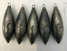 5x 4oz Beach Bombs Sea Fishing Lead Weights