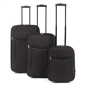 "Constellation Eva 3 Piece Suitcase Set 18/24/28"" Black LG00439BLKASMIL"