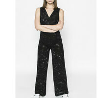 Desigual MONO DONNA Black Overalls Pants Dress Size S