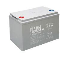 Batteria Accumulatore Piombo 12V 100Ah FIAMM 12FGL100 Solare Fotovoltaico Camper