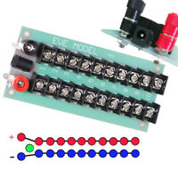 1X Power Distribution Board 3 Inputs 2 x 10 Outputs for DC AC Voltage PCB005