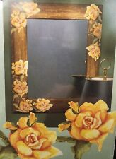 New WALLIES Yellow Wash Roses Wall and Project Stickers 12125