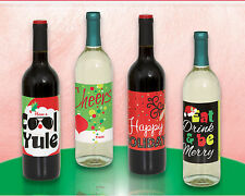 4 x Christmas Wine Bottle gift labels bottle gift tag labels FREE P&P