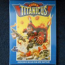 1989 Epic Codex titanicus regla libro Titan ciudadela 40K Warhammer espacio Marina GW