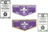 70180 24th WORLD SCOUT JAMBOREE 2019   - FLAP SET NUMBERED LTD SET