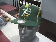 MENS NFL GREEN BAY PACKERS MITCHELL & NESS VINTAGE GREEN Snapback Cap Hat NWT