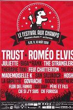 LE FESTIVAL AUX CHAMPS - CHANTEIX 2018 TRUST ROMEO ELVIS HOSHI - FLYER / TRACT