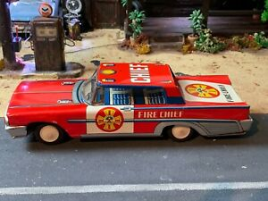 FIRE CHIEF FRICTION TIN TOY MADE IN ITALY