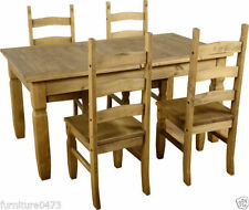 Pine Traditional Table & Chair Sets with 5 Pieces