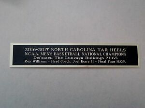 North Carolina Tar Heels Champions Nameplate For A 2016-17 Basketball Case 1.5X8