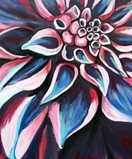 MODERN FLOWER Original Art PAINTING DAN BYL Collector Investment Canvas XXL