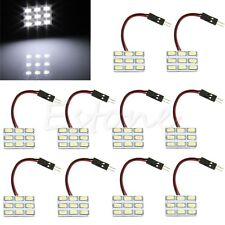10x T10 BA9S 9 SMD 5630 LED Panel Festoon Car Interior Door Light Bulb White 12V