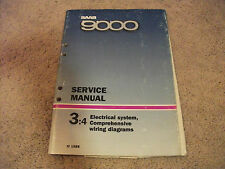 1989 SAAB 9000 Electrical System Comprehensive Wiring Diagrams Service Manual