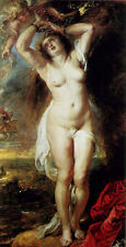 Stunning Oil painting Peter Paul Rubens - nude female Andromeda with angels 36""