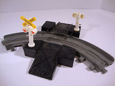 Rare Fisher Price 1989 Train Track Rail Crossing Kid Powered Working Toy Model