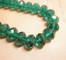 12pc 12x8mm faceted abacus glass beads-6012