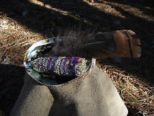 SAGE SMUDGE KIT MOUNTAIN MAN SHAMAN SMUDGING SAGE SHELL AND FEATHER