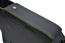 FITS DAIHATSU COPEN BLACK LEATHER ARMREST COVER yellow