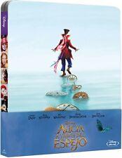 ALICIA A TRAVES DEL ESPEJO STEELBOOK BLU RAY EDICION METALICA NUEVO (SIN ABRIR)
