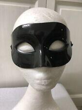 Black Patent Mens Masquerade Mask . Ball . Fancy Dress .super Hero