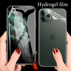 Front + Back Screen Protector For iPhone 11 12 13 Pro Max, Plus Hydrogel Film