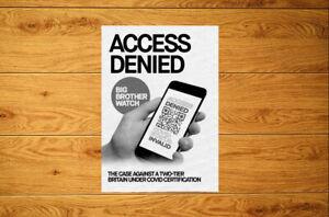 Access Denied Sticker Packs (10-100) - No Health Vaccine Passport Anti Vax