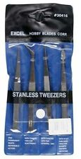 4pc Tweezer Set Pouch by Excel Blades Tool EXL30416