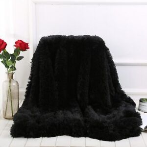 Super Soft Long Faux Fur Coral Fleece Blanket Warm Cozy Bed Sofa Blankets Newest
