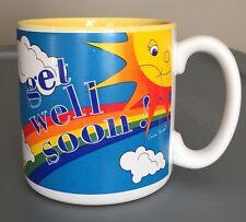 Vintage Coffee Cup Mug Susan Burger Get Well Soon Rainbow Rain Bow Sun Happy Fun