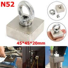 Super Strong Neodymium Recovery Magnet Hook Treasure Hunting Fishing 45x45x20mm