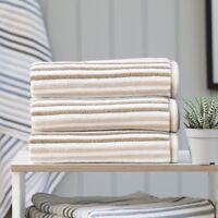 Hanover Natural Stripe Towels