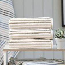 Hanover Natural Stripe Towels