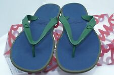 New Salvatore Ferragamo Gym Mens Sandals Thongs Size 8 Flip Flops Rubber Sale