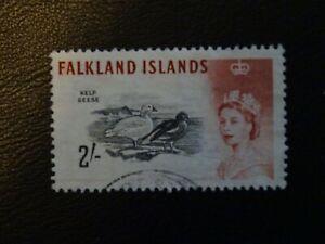 Falkland Islands Stamps SG 204ab weak entry under FA of Falklands value 2s FU.