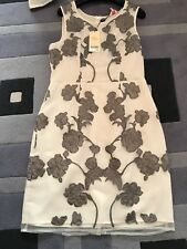 new with tags Next size 10 petite cream & grey dress