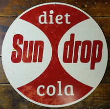 """Diet Sundrop Cola Southern Soda Pop Red & White 14"""" Round Heavy Duty Metal Sign"""