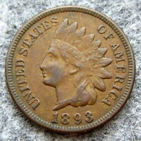 UNITED STATES 1893 ONE CENT, INDIAN HEAD, BETTER GRADE