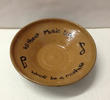 'Without Music Life would be...' Poetic Pottery Nietzche NC Potter Helen Seebold