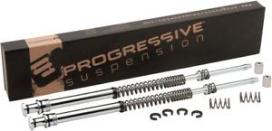 Progressive 41mm Monotube Fork Spring Lowering Kit 97-13 Harley Touring Models