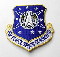USAF AIR FORCE SPACE COMMAND SHIELD EMBLEM EMBROIDERED PATCH 3 INCHES