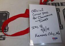 Charmaine Tweet Signed Invicta FC 8 Fight Worn Used Cornerman Pass PSA/DNA MMA