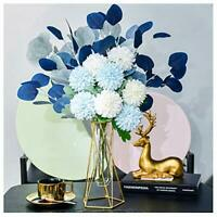 Artificial Flowers Fake Silk Flower Bouquet with Vase, Real Touch Indoor Outdoor