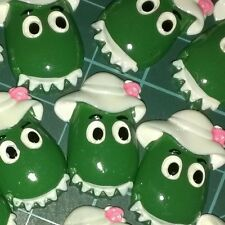 6 x Dorothy the Dinosaur Inspired, Kids Resin Kids Party Cake Toppers FlatBacks