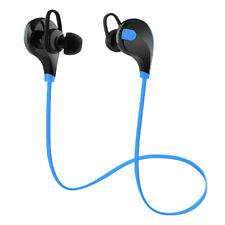 Wireless Headphones Stereo Earbuds Bluetooth Sport Earphones Blue with Mic Ww