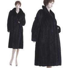 Mint! Magnificent High Grade Black Mahogany Female Mink Fur Stroller Coat
